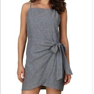 Lovely Overlap Front Tie Dress